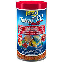 Корм TetraPro Colour для тропических рыб в чипсах, усиление окраса, 100 мл, фото 1