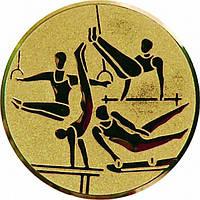 """Наклейка (жетон) на медаль, кубок """"Спортивная гимнастика"""" ZR250075."""