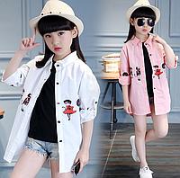 Стильна сорочка для дівчаток / Модная рубашка для девочек