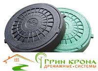 Люк полимерпесчаный зеленый (класс нагрузки до 5 т)