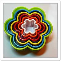 Набор вырубок из 5 шт.Цветок разноцветный
