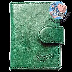 Визитница-кардхолдер на хлястике Air (зеленый)