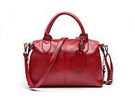 Женская сумка красная вместительная