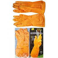 Перчатки резиновые хозяйственные Household Gloves (размер L)