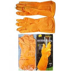 Перчатки рабочие резиновые хозяйственные Household Gloves (размер L) латексные