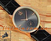 Женские наручные часы Calvin Klein Quartz Gold Black Small кожаный ремешок кварцевые отличное качество