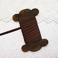 "Лента репсовая ""Темный шоколад"", 6 мм"