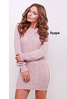 Женское вязаное платье-туника в расцветках