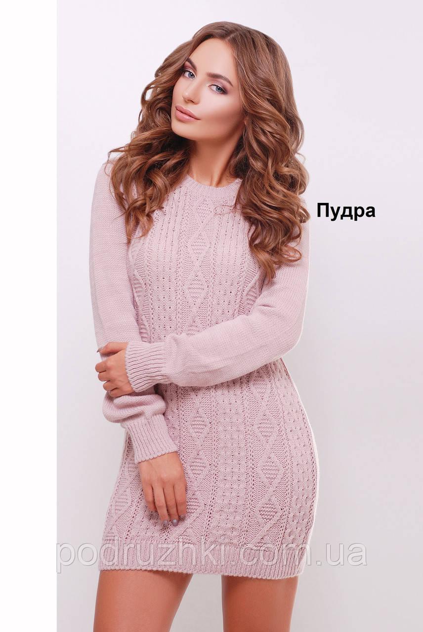 b24466421cb Женское вязаное платье-туника в расцветках - Интернет-магазин