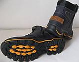 Детские зимние  в стиле Caterpillar сапоги кожа ботинки САТ мех теплые качественные черные, фото 8