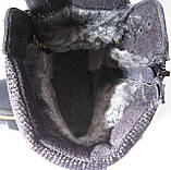 Детские зимние  в стиле Caterpillar сапоги кожа ботинки САТ мех теплые качественные черные, фото 9