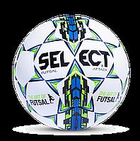 М'яч для футзалу Select Futsal Attack Grain 107343-W розмір 4 (ТПУ, бутил, білий-синій-чорний)