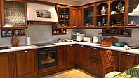 Кухни с деревянными или шпонированными фасадами