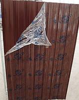 Лист гофрированный 8-ми волновой 1500х950 мм коричневый