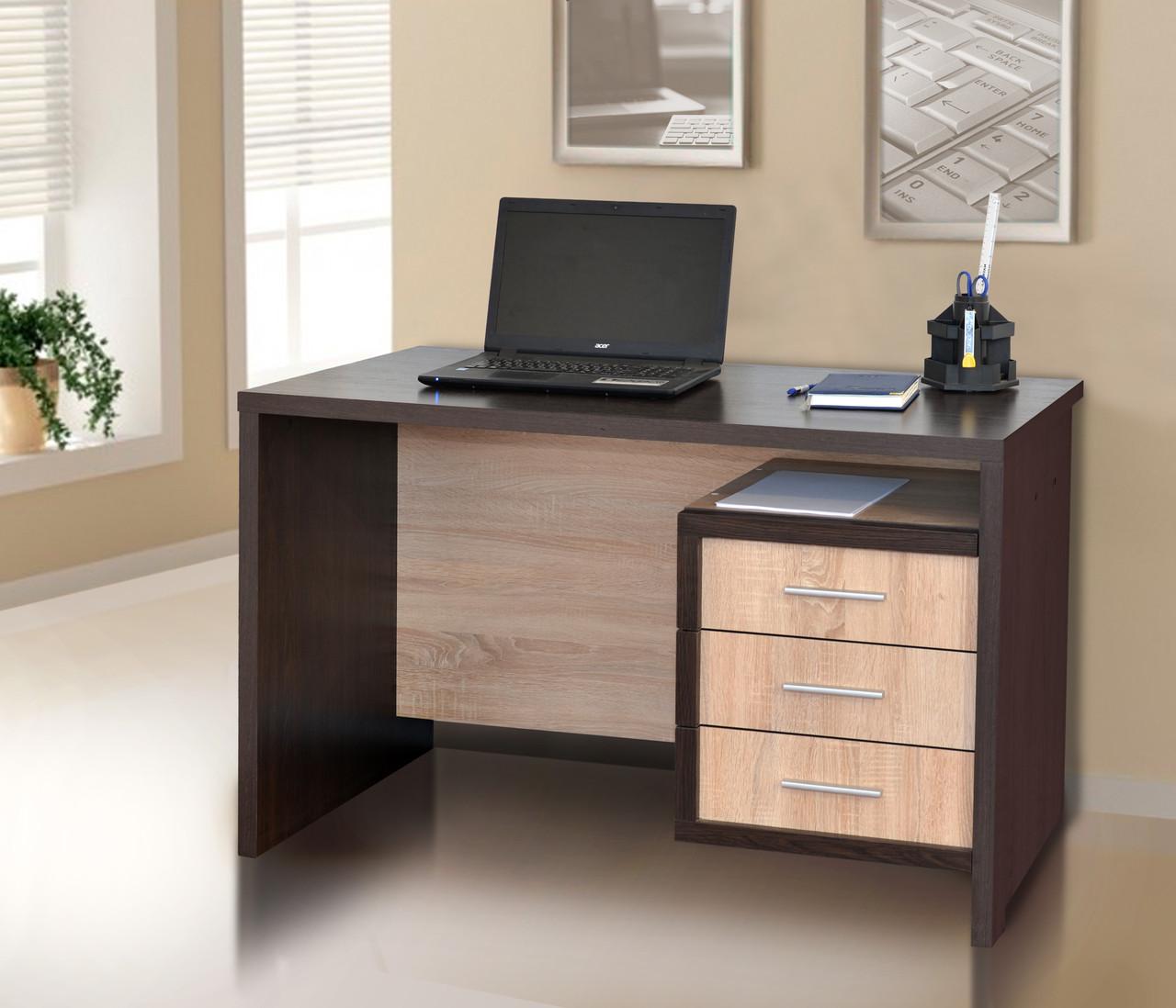 Компьютерный стол Кубик 2 венге/дуб сонома Летро
