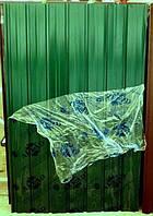Лист гофрированный 8-ми волновой 1500х950 мм зеленый