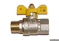 Кран шаровый муфтовый ТК Ду-15 ВН для газа
