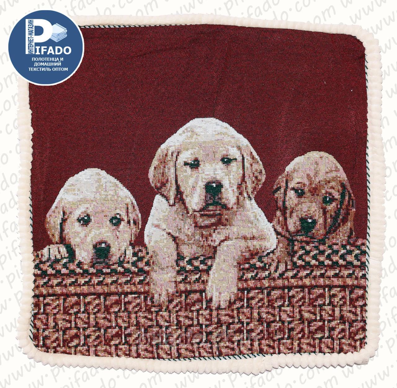 Декоративная наволочка с вышивкой собака (гобелен) 50х50. Модель HD01-5