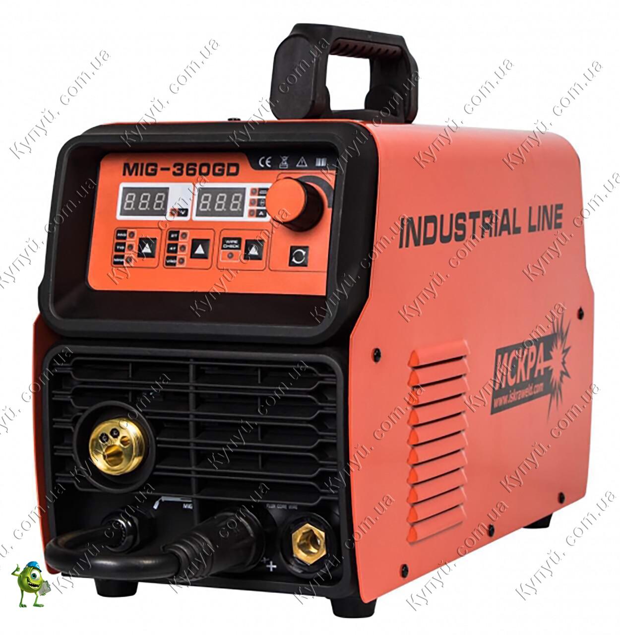 Сварочный инвертор полуавтомат Искра MIG-360GD Industrial line