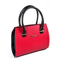 Красная сумочка М68-68/47 женская деловая саквояж небольшая ручная