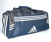 Сумка дорожная (60*28*25) Adidas сине-серая