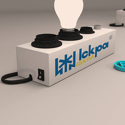 Тестер для проверки ламп Искра на 4 патрона