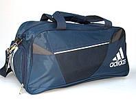 Сумка дорожная (60*30*24) в стиле Adidas сине-серая, фото 1
