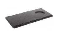 Поднос (сланец) из натурального камня прямоугольный 250x120мм, толщина 4-7мм APS 00986