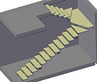 Проектирование, изготовление металлокаркаса лестницы
