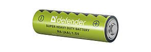 Батарейка DEFENDER Carbon Zink Battery AA/R6-4F