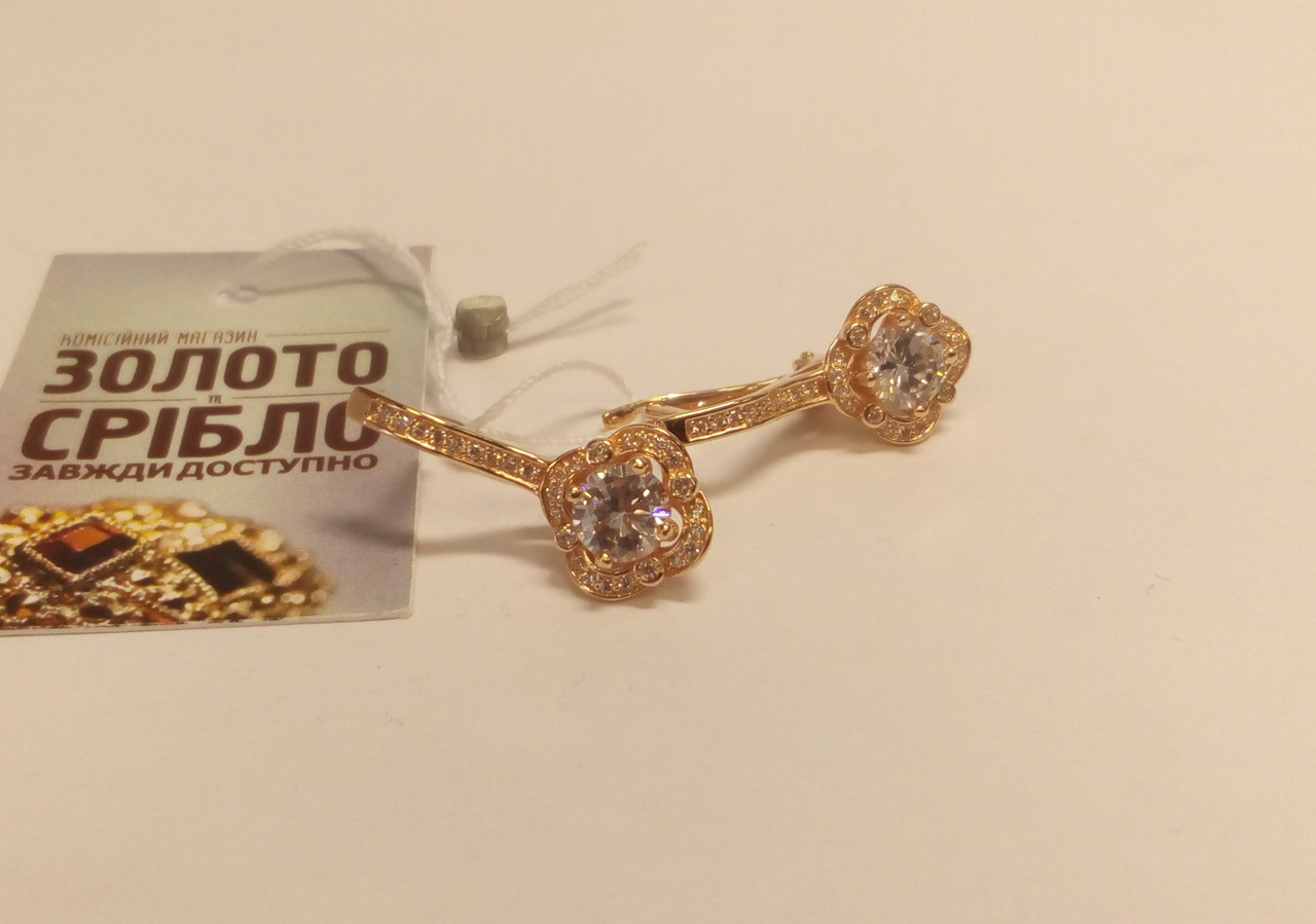 b6b7057bf695 Красивые золотые серёжки, вес 5.39 грамм. Комиссионный магазин. -  Комісійний магазин