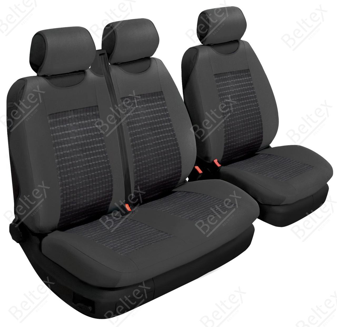 Чехлы-маечки на микроавтобусы Beltex Comfort 1+2, цвет: черный