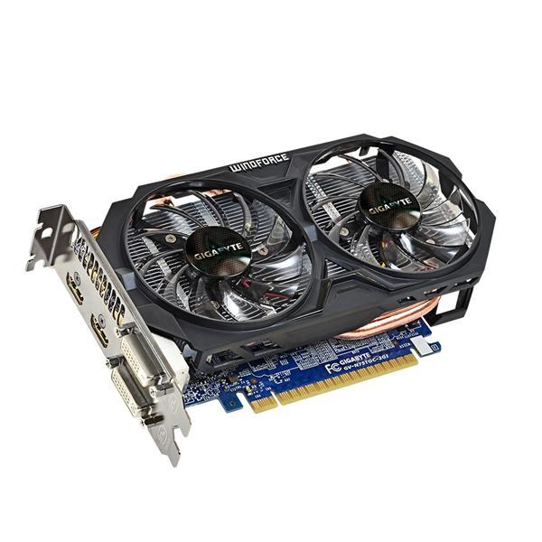 "Видеокарта Gigabyte GTX 750Ti WindForce 2X 2Gb ""Over-Stock"""