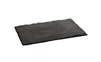 Поднос (сланец) из натурального камня прямоугольный 300x200 мм, h-5 мм Stalgast 399104