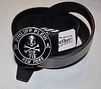 Кожаный ремень с логотипом Philipp Plein