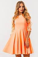 Платье с рельефами неонового цвета