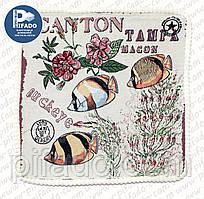 Декоративна наволочка з вишивкою CANTON (гобелен) 48х48. Модель HD01