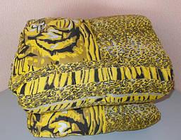 Одеяло полуторное двухстороннее  овчина и ткань полиэстер