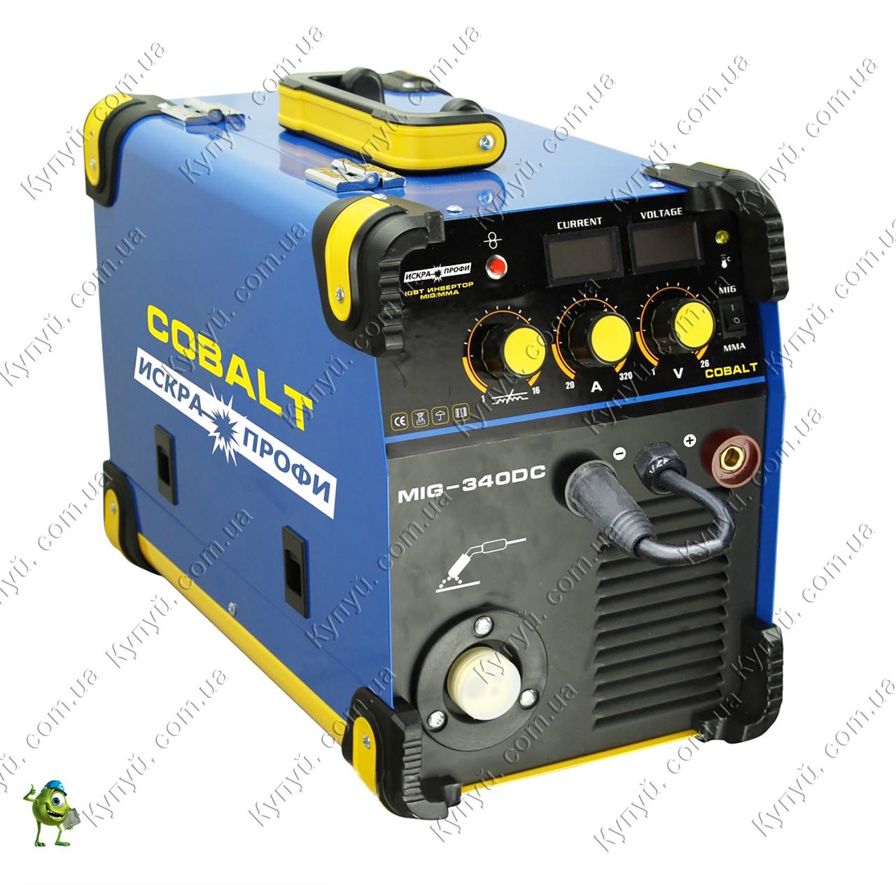 Сварочный инвертор полуавтомат Искра-Профи Cobalt MIG-340DC