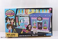 """Домик """"Littlest Pet Shop """" 5007   сборный,2-х комн, с куклой, мебелью , в кор.60*36*7см"""