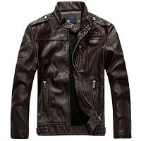Мужская кожаная куртка. Модель 61625, фото 2