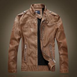 Мужская кожаная куртка. Модель 61625
