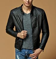 Мужская кожаная куртка. Модель 61625, фото 7