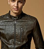 Мужская кожаная куртка. Модель 61625, фото 9