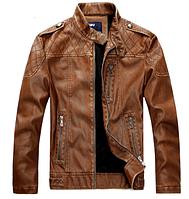Мужская кожаная куртка. Модель 61625, фото 4