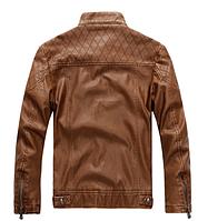 Мужская кожаная куртка. Модель 61625, фото 5