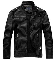 Мужская кожаная куртка. Модель 61625, фото 3