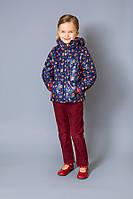 Куртка-жилет для девочки демисезонная (р.110-128)