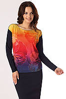 Женская трикотажная блузка с рисунком. Модель India Top-Bis, коллекция осень-зима 2017