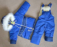 Зимний детский комбинезон на меху для мальчика